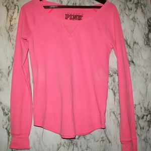 PINK Pajama Sleep Top Medium VS